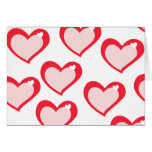 Red Love Hearts Valentine Card
