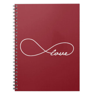 Red Love Infinity Notebook