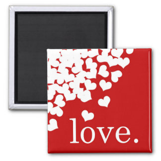 red love. -Magnet 2 Inch Square Magnet