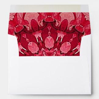 Red Love Mandala  A7 Envelope