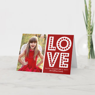 Red Love Marquee Valentine's Day Card