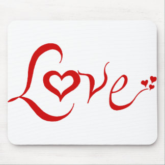 Red Love Mousepad