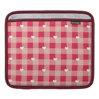 Red love pattern with hearts valentines iPad sleeve