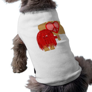 Red love peace pet tee