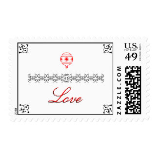 Red Love Postage Stamps