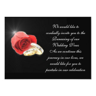 Red Love Rose Formal Wedding Collection Invitation