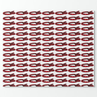 Red Love Snake Wrapping Paper