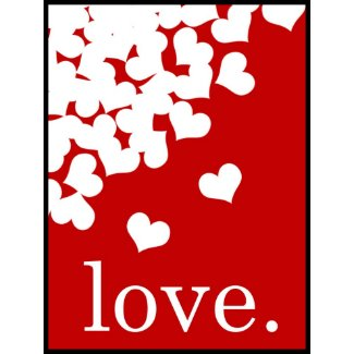 Valentines Day Party Planning, Ideas & Supplies, Red Love Stamp