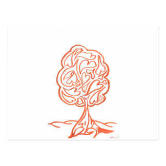 Red - Love Tree - 2012 Postcard