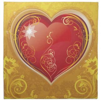 Red Love Valentine Hearts Cloth Napkins