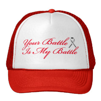 Red Lung Cancer Support Baseball Hat Cap