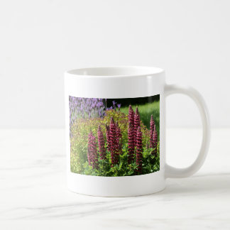 Red lupin flowers coffee mug