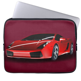Red Luxurious Car Computer Sleeve