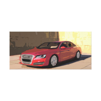 Red Luxury Modern Car Canvas in Simple Design