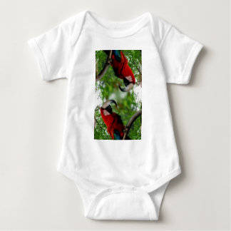 Red Macaw Abstract Baby Bodysuit