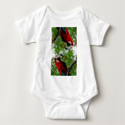 Red Macaw Abstract T-shirts