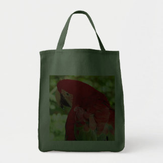 Red Macaw Tote Bag