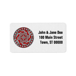 Red Machinery Address Label