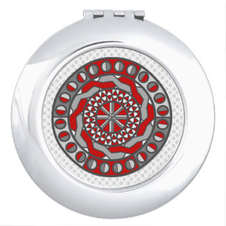 Red Machinery Compact Mirror