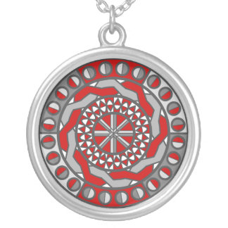 Red Machinery Necklace