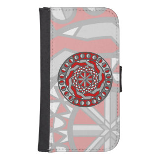 Red Machinery Smartphone Wallet Case Phone Wallet Case