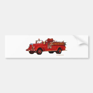 Red_Mack_Fire_truck_Texturized Bumper Sticker