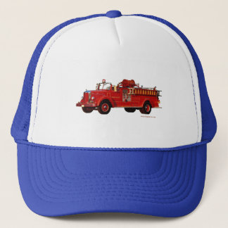 Red_Mack_Fire_truck_Texturized Trucker Hat