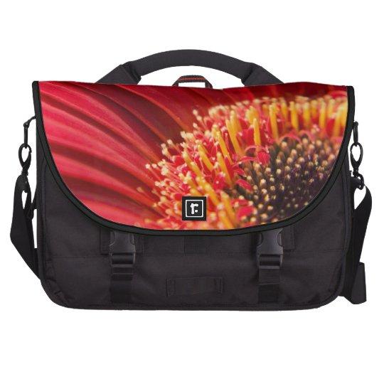 Red Macro Gerbera Daisy Flower Commuter Bags