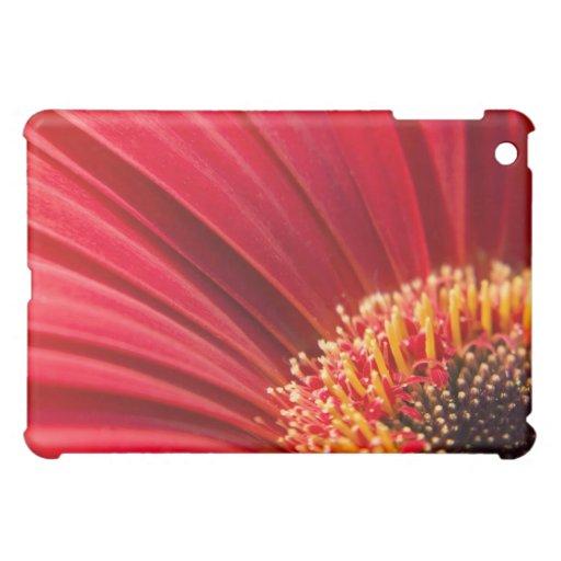 Red Macro Gerbera Daisy Flower iPad Mini Cover