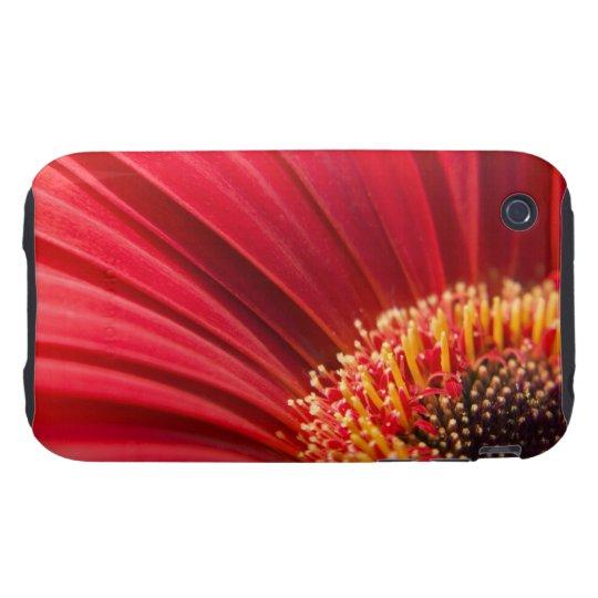 Red Macro Gerbera Daisy Flower iPhone 3 Tough Cover