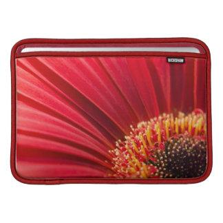 Red Macro Gerbera Daisy Flower MacBook Sleeve