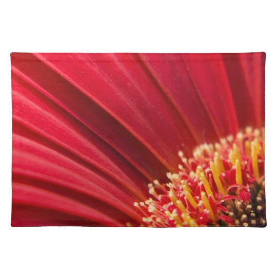 Red Macro Gerbera Daisy Flower Placemat
