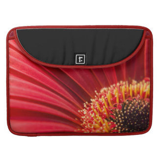 Red Macro Gerbera Daisy Flower Sleeve For MacBooks