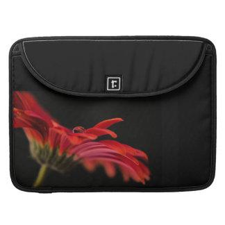 Red Macro Gerbera Flower Sleeve For MacBooks