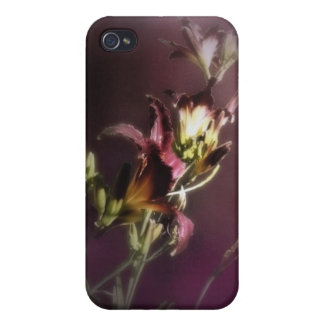 red magic day lilies 4 iPhone 4/4S case