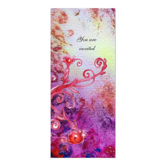 RED MAGIC SWIRLS IN  PURPLE YELLOW GOLD SPARKLES CARD