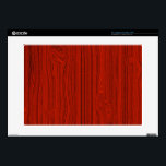 "Red Mahogany Wood Grain Pattern Look 15&quot; Laptop Skin<br><div class=""desc"">Simple elegant red mahogany wood grain pattern look</div>"