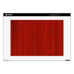 "Red Mahogany Wood Grain Pattern Look 15"" Laptop Skin"