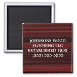 Red Mahogany Wood Magnets