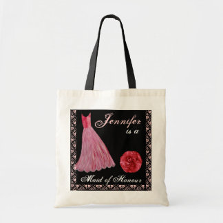 RED Maid of Honour Dress Cotton Tote Bag