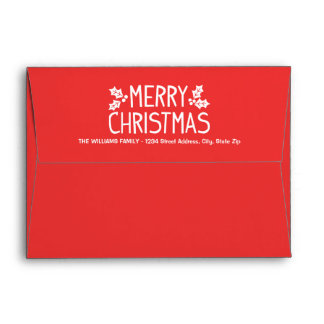 Red Mailing Envelopes | Merry Christmas