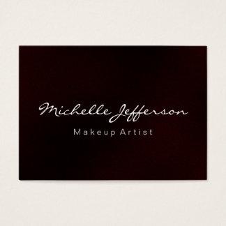 Red Makeup Artist Script Chubby Business Card