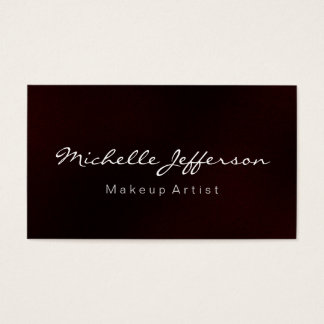 Red Makeup Artist Script Profession Business Card