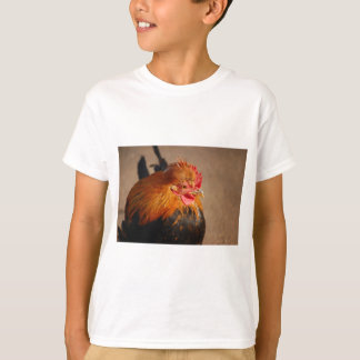 Red-male-chicken1858 ROOSTER FARM ANIMAL BIRD PHOT T-Shirt