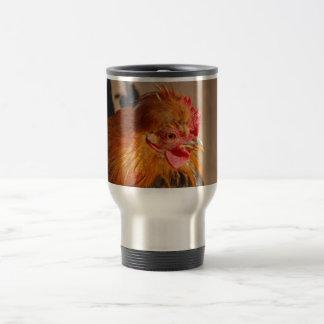 Red-male-chicken1858 ROOSTER FARM ANIMAL BIRD PHOT Travel Mug
