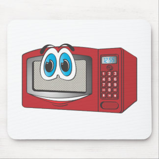 Red Male Microwave Cartoon Mousepad