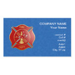 Red maltese  firefighting cross business card templates