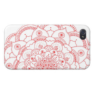 Red Mandala iphone 4 Matte Finish iPhone 4/4S Cover