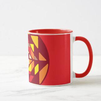 Red Mandala Mosaic Mug