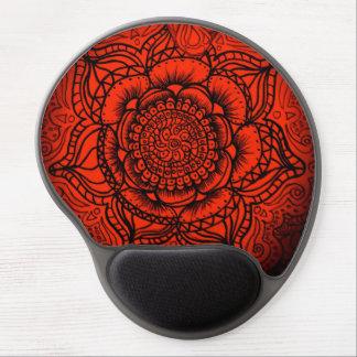 Red Mandala Mousepad Gel Mouse Pad